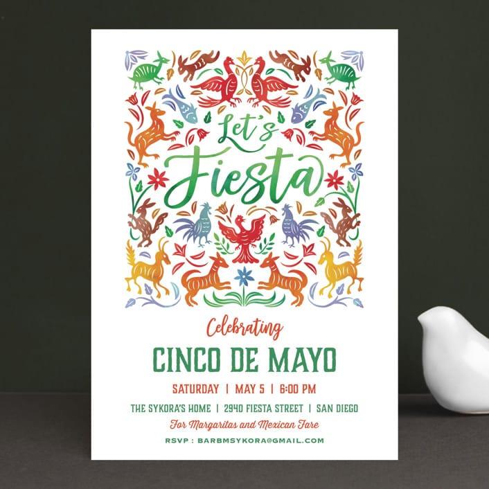 Otomi Cinco De Mayo Holiday Party Invitations