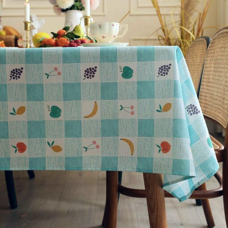 Gingham Rectangular Fruit Table Cloth
