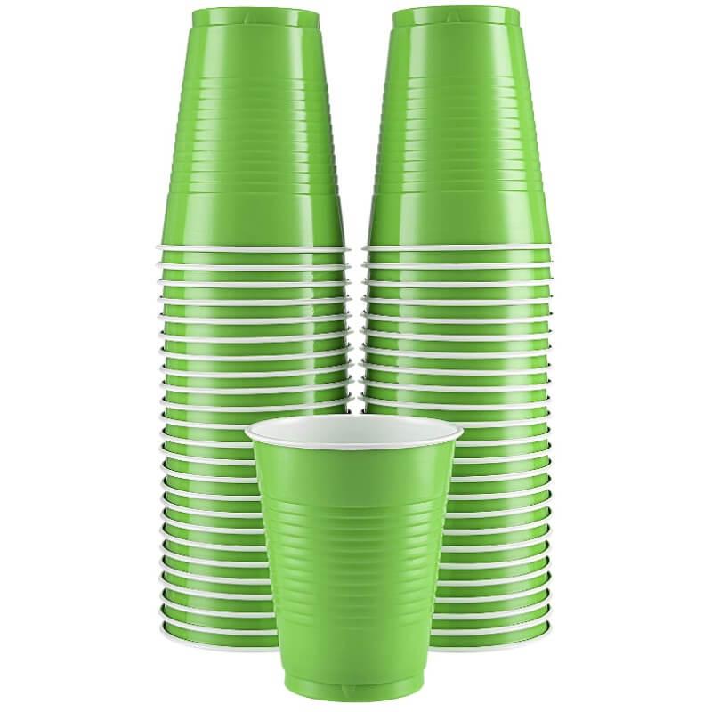 Kiwi Green Plastic Cups