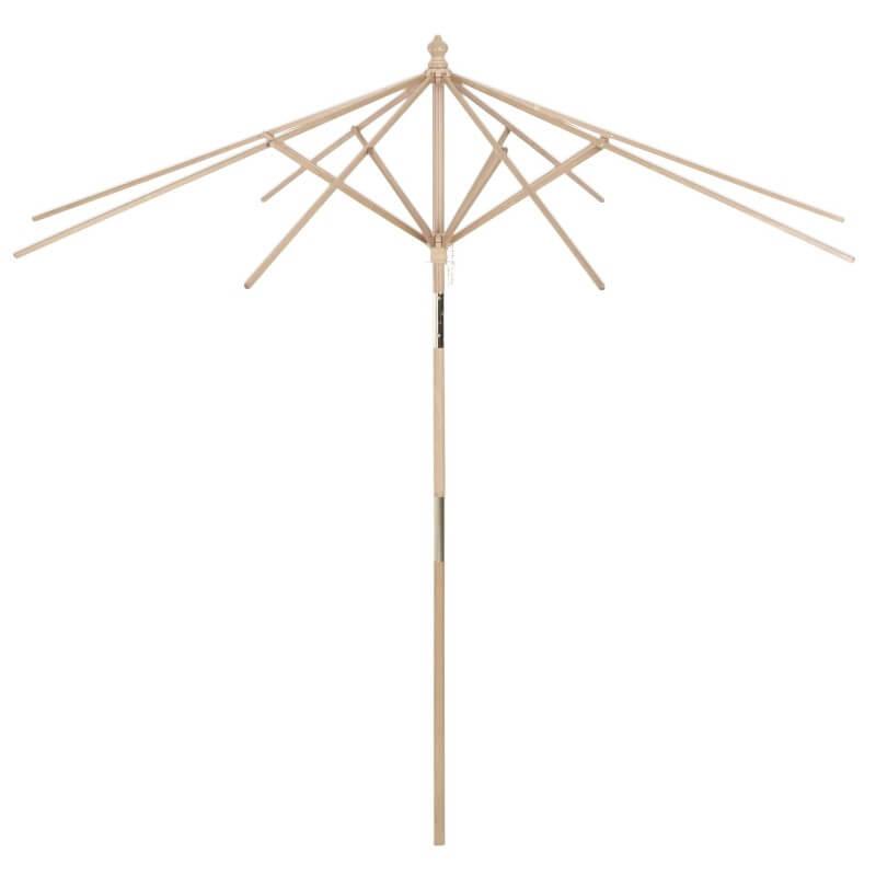Natural Wood Tilting Umbrella Frame and Pole