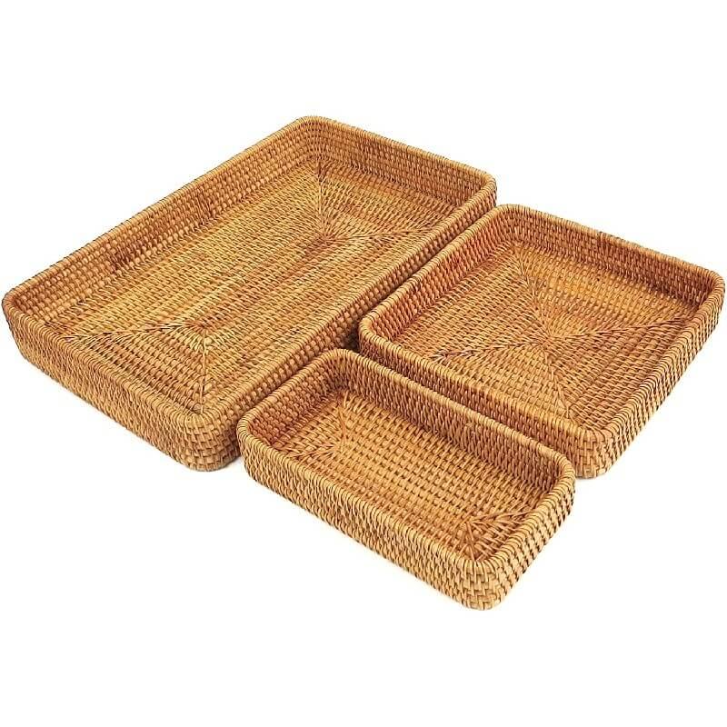 Rattan Baskets Set of Three
