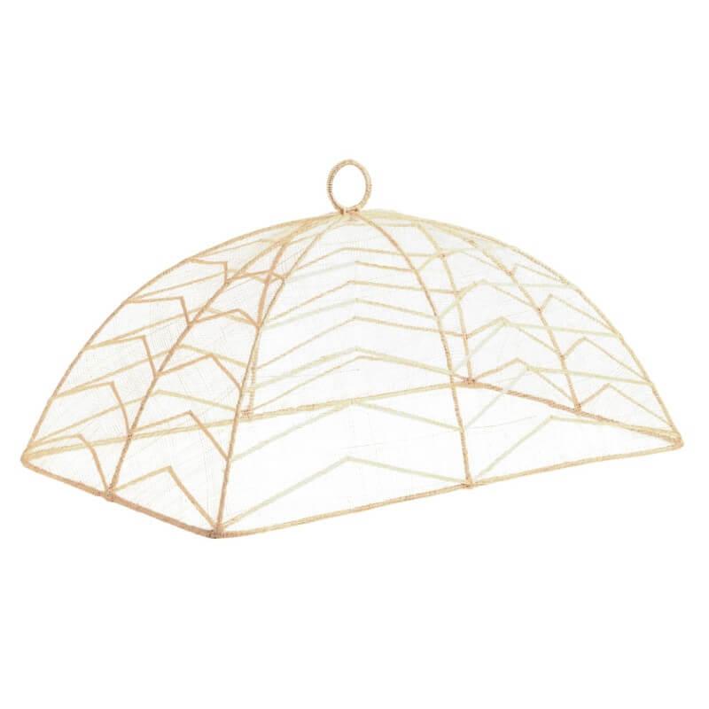 Rectangular Natural Chevron Mesh Food Dome