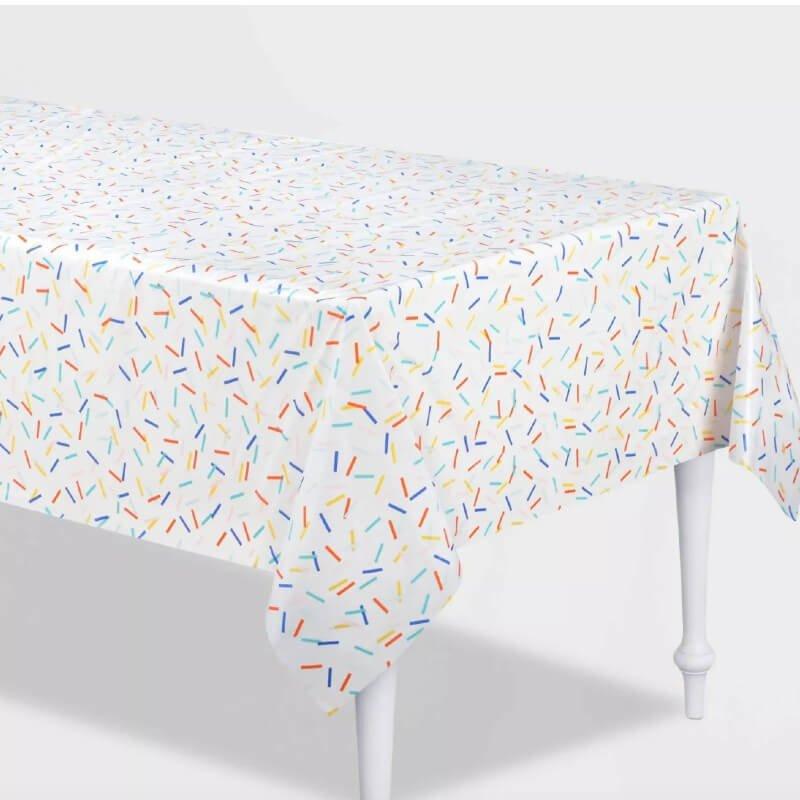 Retro Confetti Plastic Table Cover