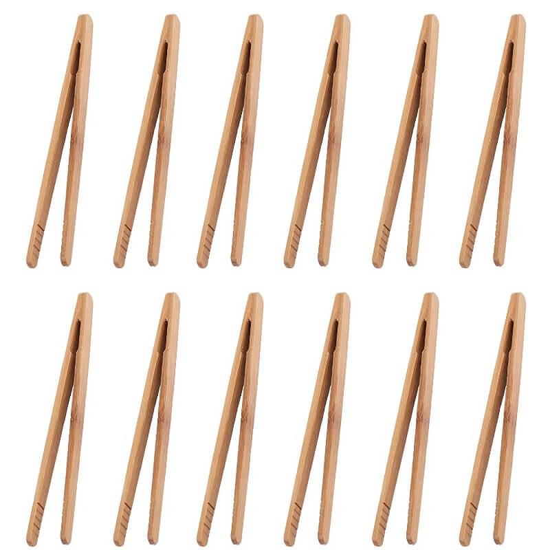 """7"""" Bamboo Tongs"""