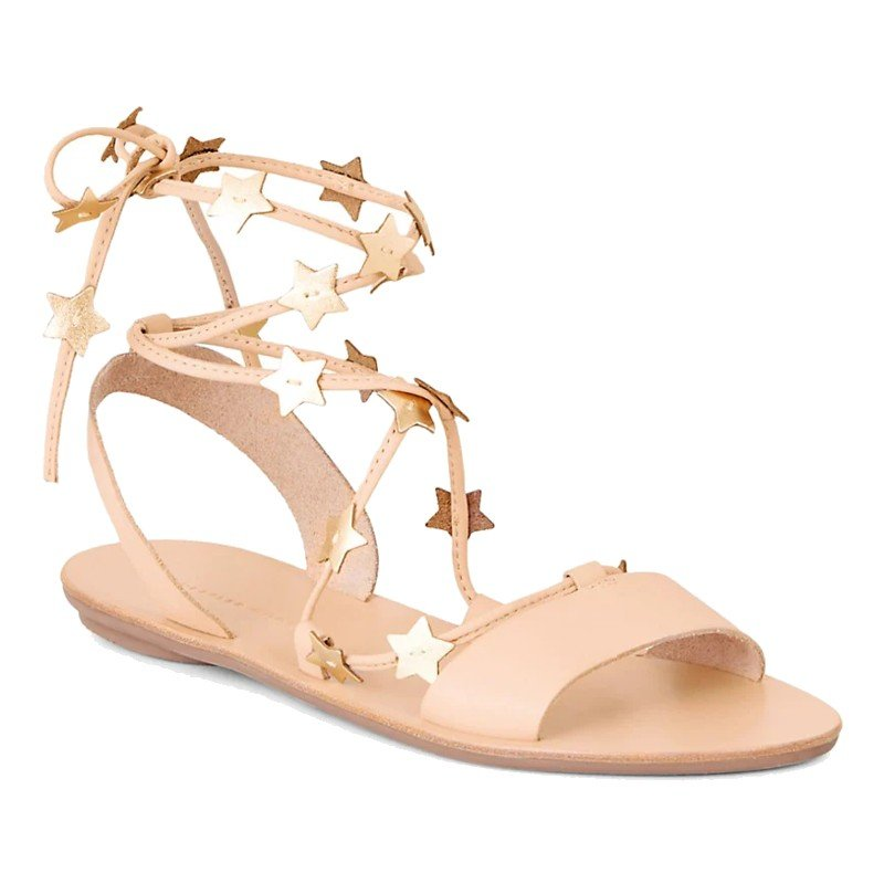 Starla Ankle-Wrap Leather Sandals