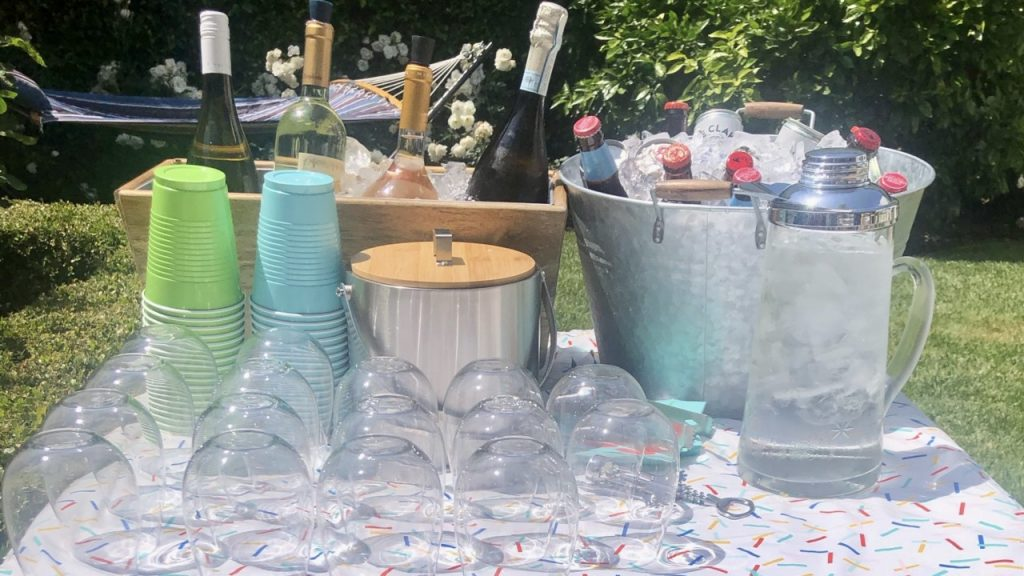 Summer BBQ Drink Table