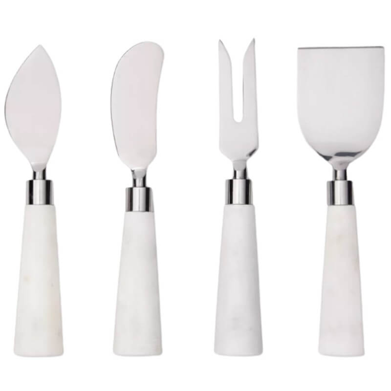 White Marble Cheese Knives