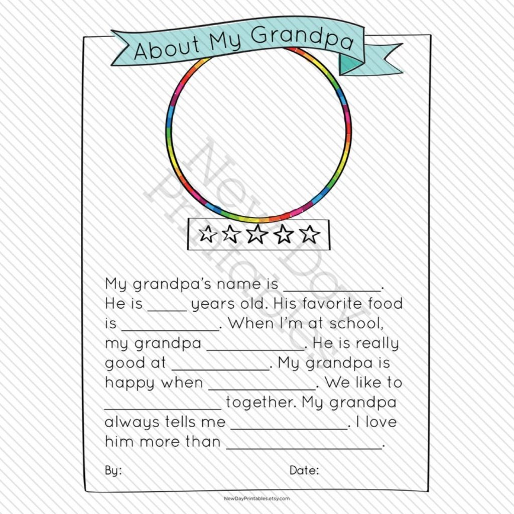 All About My Grandpa Printable