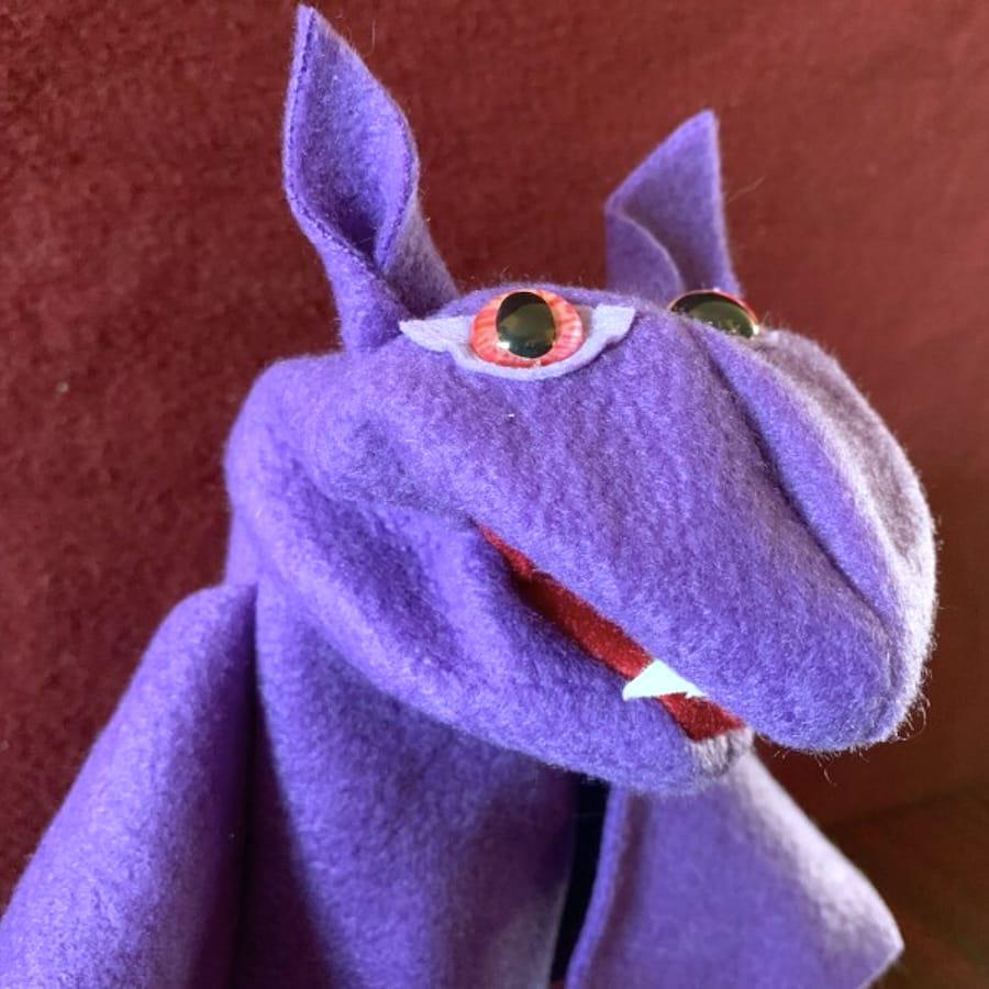 Mini Hand Bat Puppet