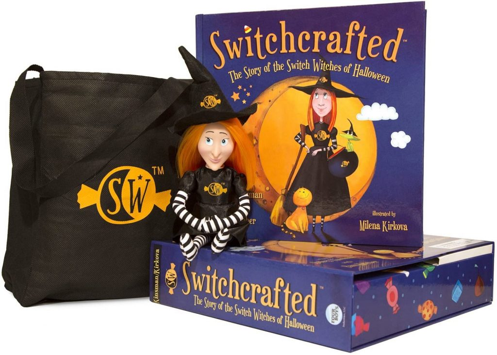 The Story of the Switch Witches of Halloween Book and Doll
