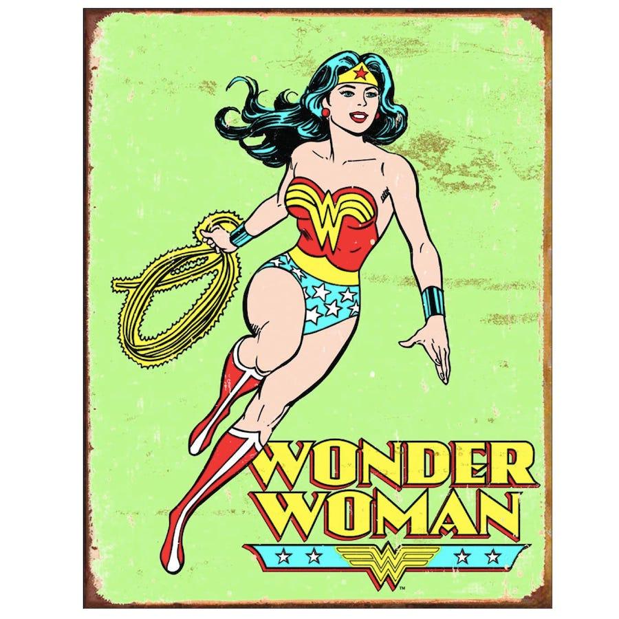 Wonder Woman Retro Tin Sign