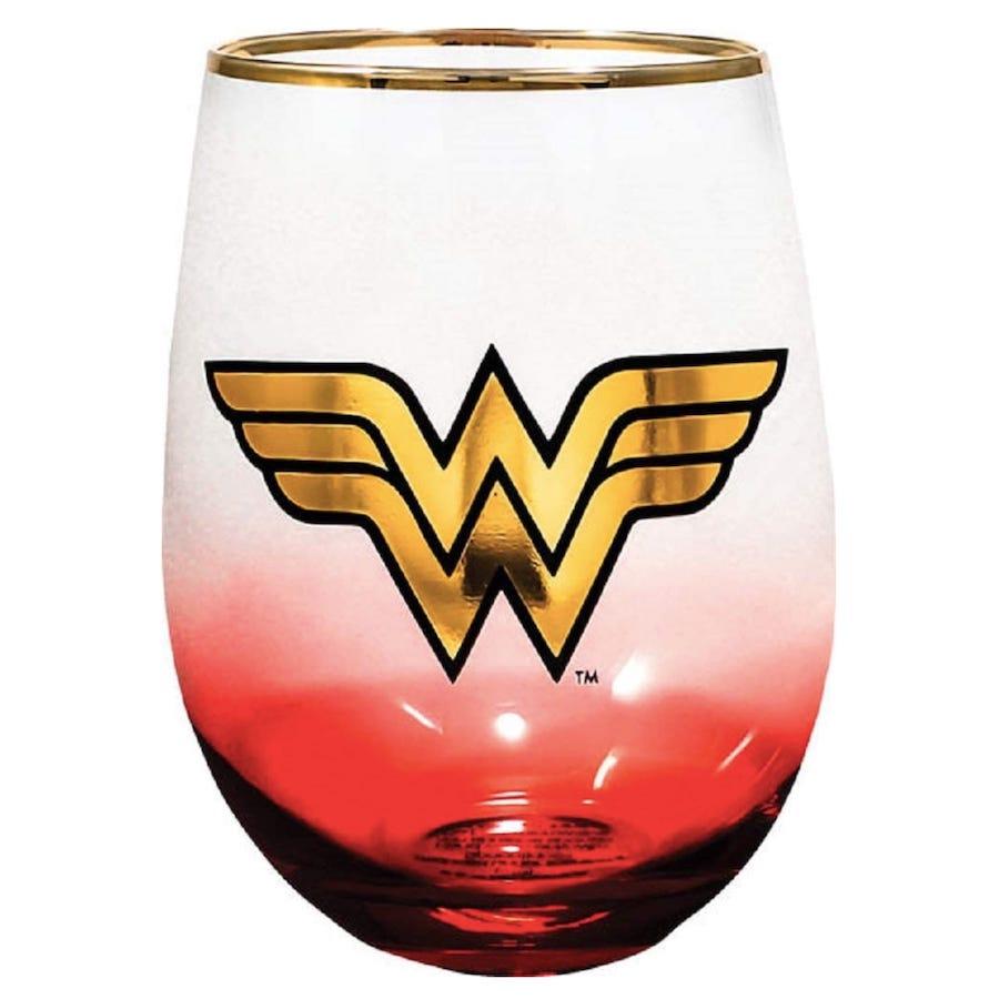 Wonder Woman Stemless Wine Glass