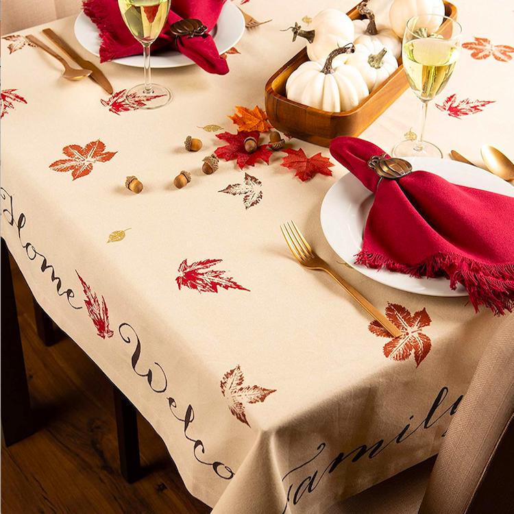 Grateful Thanksgiving Tablecloth