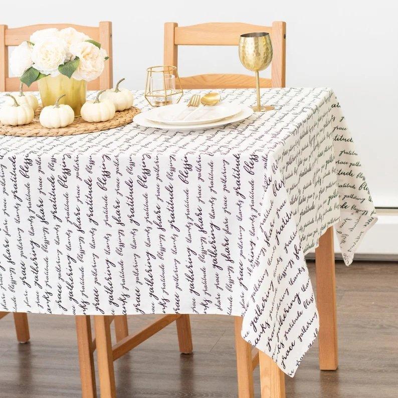 Thanksgiving Gratitude Tablecloth